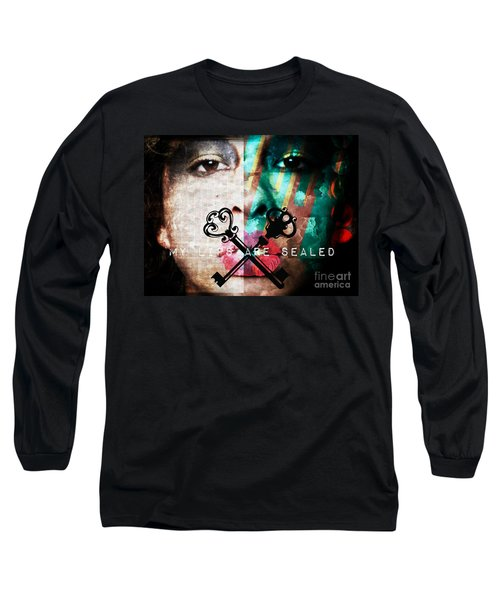 My Lips Are Sealed Long Sleeve T-Shirt by Jessica Shelton