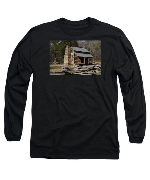 My Mountain Home Long Sleeve T-Shirt by B Wayne Mullins