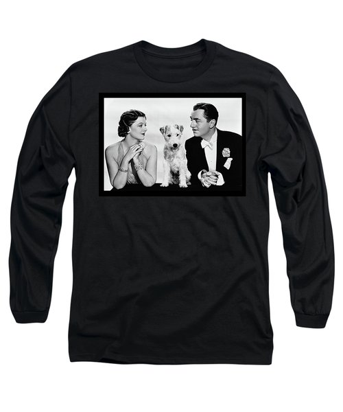 Myrna Loy Asta William Powell Publicity Photo The Thin Man 1936 Long Sleeve T-Shirt by David Lee Guss