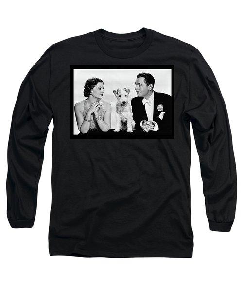 Myrna Loy Asta William Powell Publicity Photo The Thin Man 1936 Long Sleeve T-Shirt