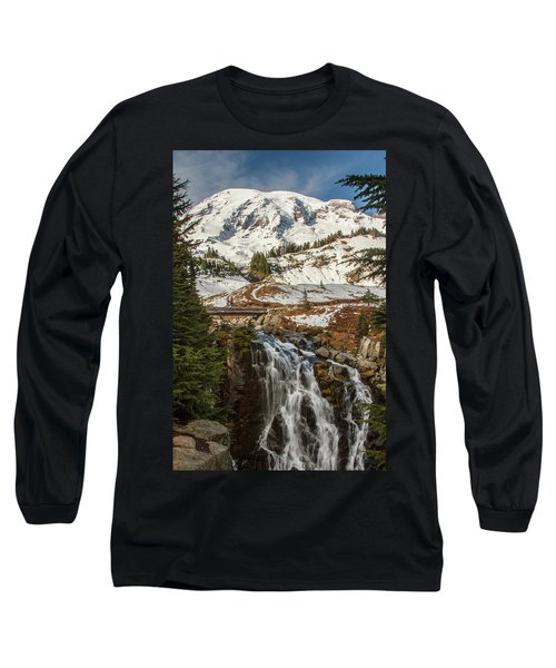 Myrtle Falls, Mt Rainier Long Sleeve T-Shirt