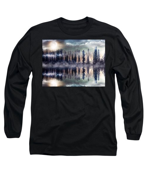 Mystic Lake Long Sleeve T-Shirt by Gabriella Weninger - David