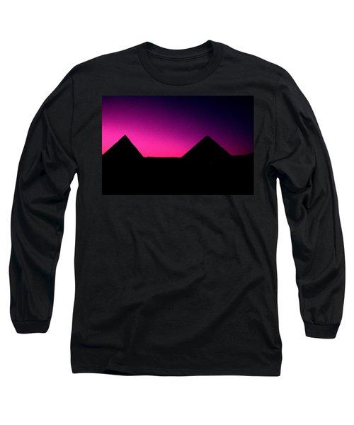 The Pyramids At Sundown Long Sleeve T-Shirt