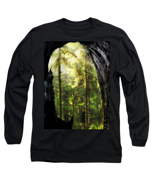 Mystical Forest Opening Long Sleeve T-Shirt by Leland D Howard