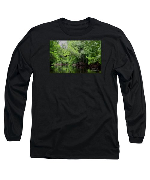 Mystical Withlacoochee River Long Sleeve T-Shirt by Barbara Bowen