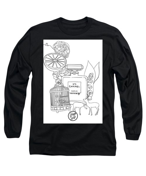 Long Sleeve T-Shirt featuring the digital art N0.5 by ReInVintaged