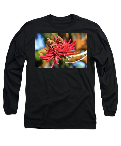 Naked Coral Tree Flower Long Sleeve T-Shirt