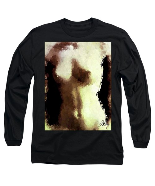 Long Sleeve T-Shirt featuring the painting Naked Female Torso  by Joan Reese