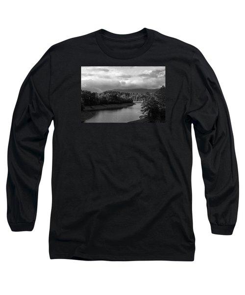 Long Sleeve T-Shirt featuring the photograph Nantahala River Blue Ridge Mountains by Kelly Hazel