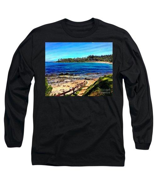 Napili Beach Gazebo Walkway Long Sleeve T-Shirt