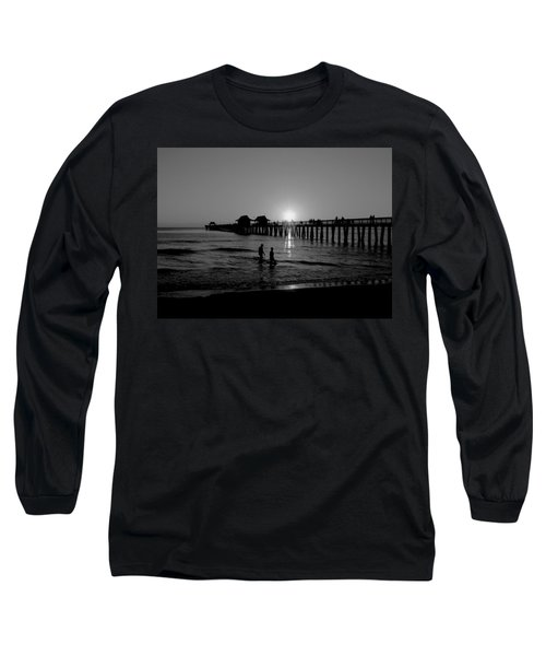 Naples Florida Pier Sunset Long Sleeve T-Shirt