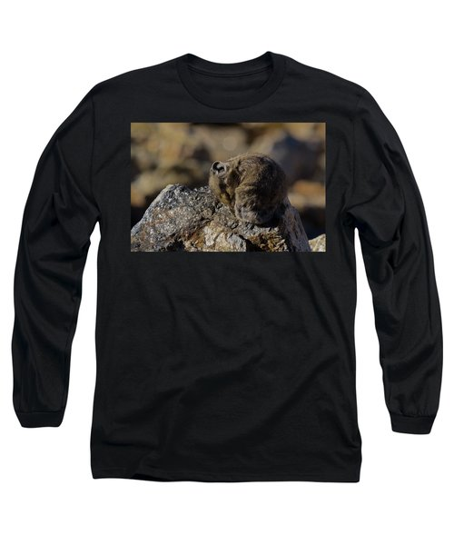 Napping American Pika - 4694 Long Sleeve T-Shirt