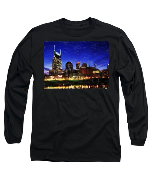 Nashville At Twilight Long Sleeve T-Shirt