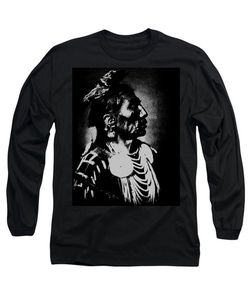 Native American 2 Curtis Long Sleeve T-Shirt by David Bridburg