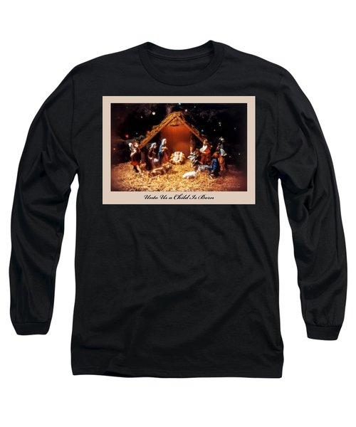 Nativity Scene Greeting Card Long Sleeve T-Shirt