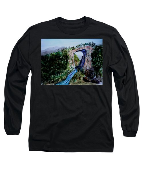 Natural Bridge In Virginia Long Sleeve T-Shirt