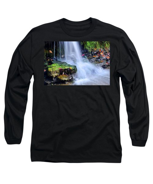 Long Sleeve T-Shirt featuring the photograph Natural Flowing Water by Frozen in Time Fine Art Photography