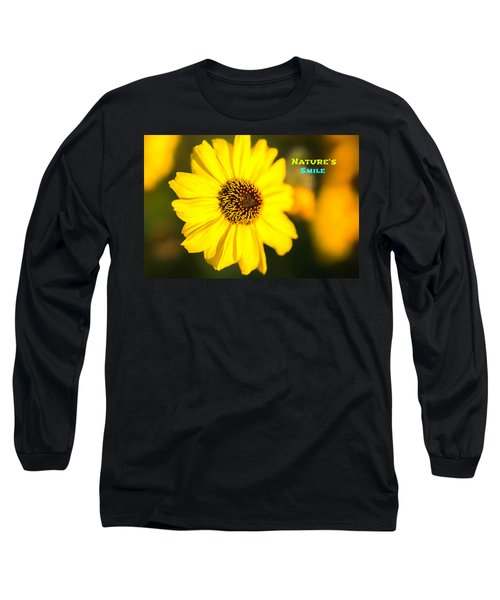 Nature's Smile  Long Sleeve T-Shirt by Joseph S Giacalone
