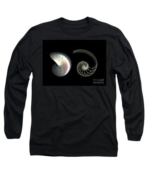 Nautilus Deconstructed Long Sleeve T-Shirt by Christian Slanec