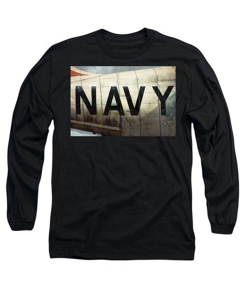 Long Sleeve T-Shirt featuring the photograph Navy - Kaman K-16b Experimental Aircraft by Gary Heller