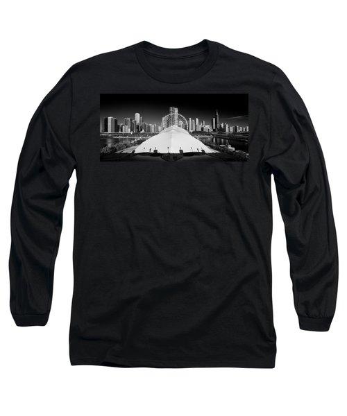 Navy Pier Wheel Long Sleeve T-Shirt