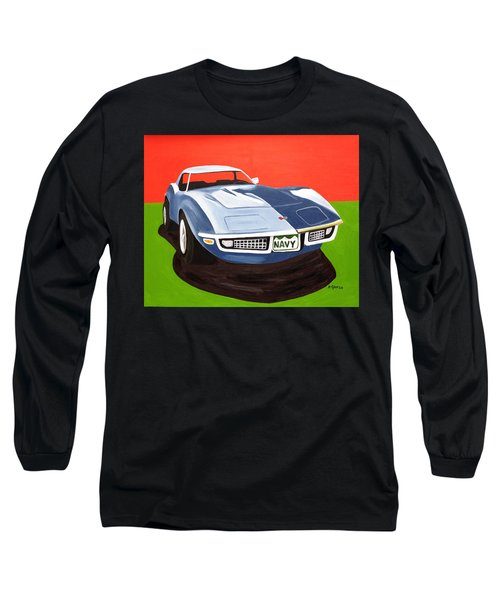 Navy Vette Long Sleeve T-Shirt