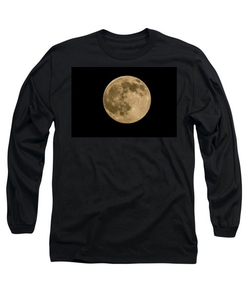 Near Full Moon, Strawberry Moon Long Sleeve T-Shirt