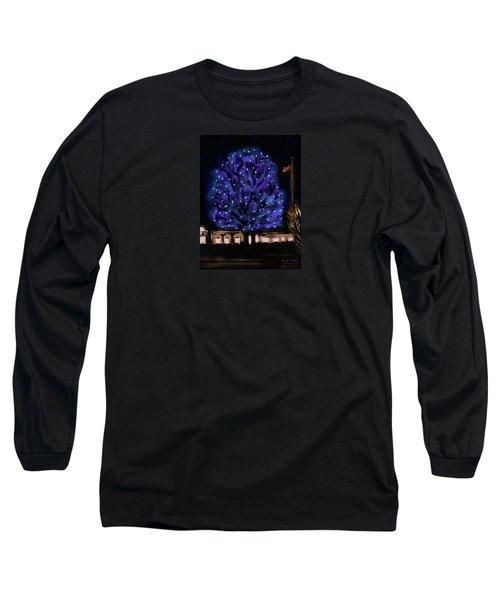 Needham's Blue Tree Long Sleeve T-Shirt