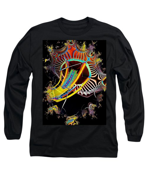 Needle In Fractal 2 Long Sleeve T-Shirt by Tim Allen