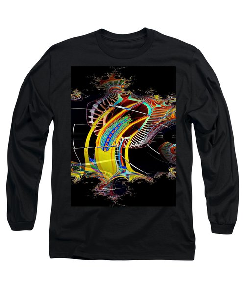 Needle In Fractal 4 Long Sleeve T-Shirt by Tim Allen