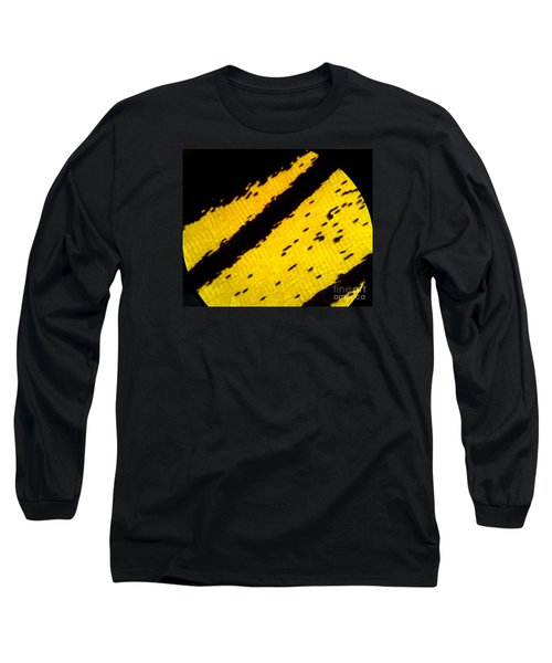Neon Birdwing Butterfly  Long Sleeve T-Shirt by KD Johnson