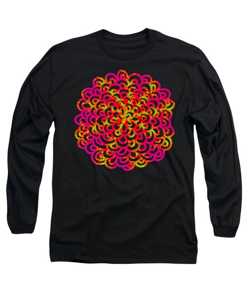 Neon Fractals Long Sleeve T-Shirt