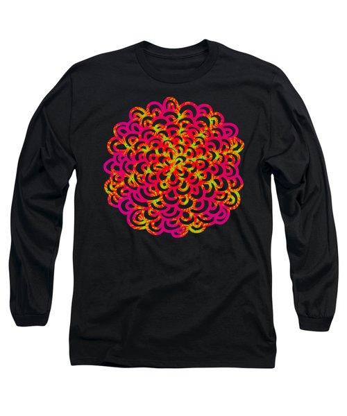 Neon Fractals Long Sleeve T-Shirt