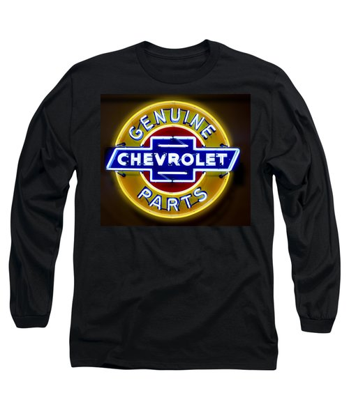 Neon Genuine Chevrolet Parts Sign Long Sleeve T-Shirt