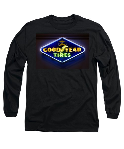 Neon Goodyear Tires Sign Long Sleeve T-Shirt