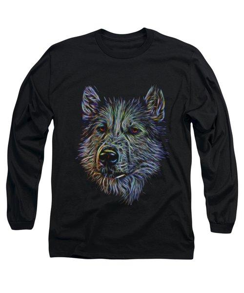 Neon Husky Long Sleeve T-Shirt by Brian Cross