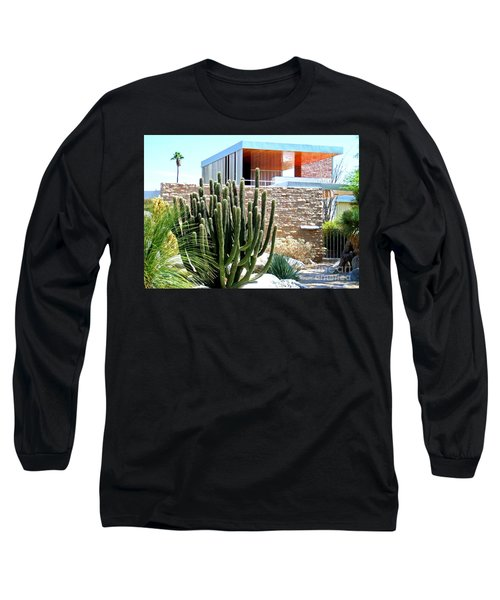 Neutra's Kaufman House 2 Long Sleeve T-Shirt by Randall Weidner
