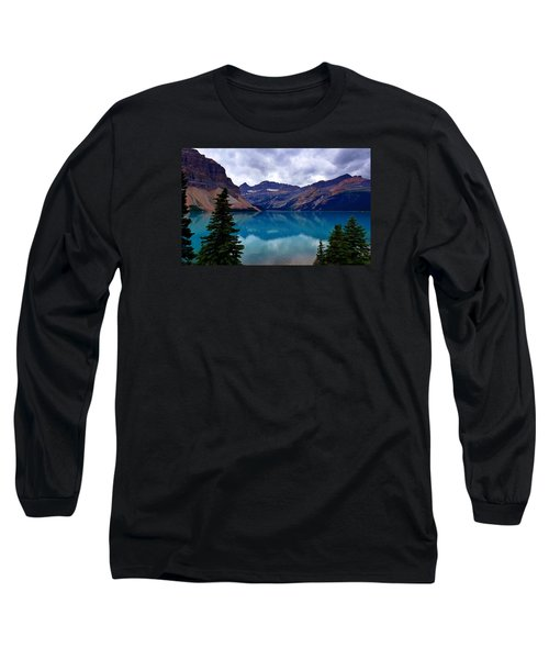 Bow Lake, Banff, Ab  Long Sleeve T-Shirt by Heather Vopni