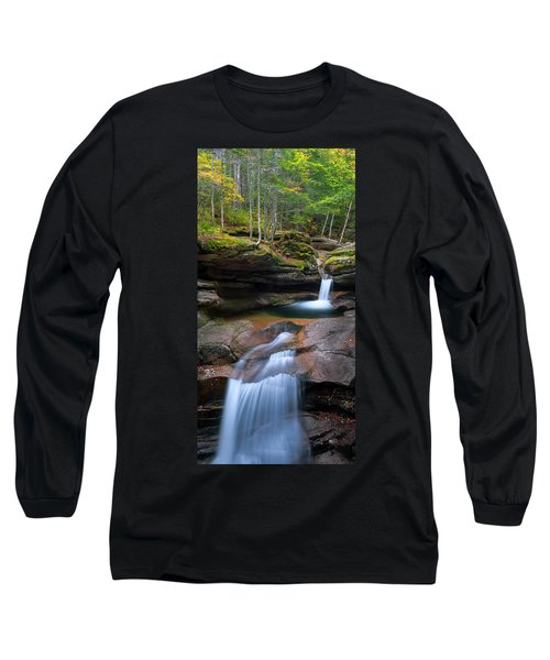 New Hampshire Sabbaday Falls Panorama Long Sleeve T-Shirt by Ranjay Mitra