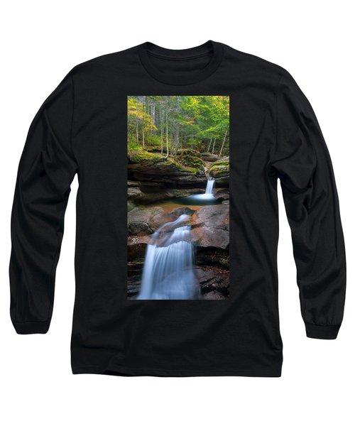 New Hampshire Sabbaday Falls Panorama Long Sleeve T-Shirt
