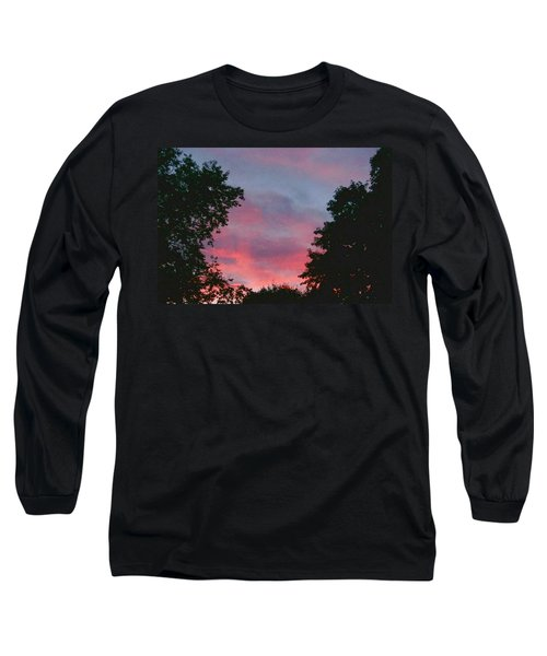 Long Sleeve T-Shirt featuring the digital art New Hampshire Sunset by Barbara S Nickerson