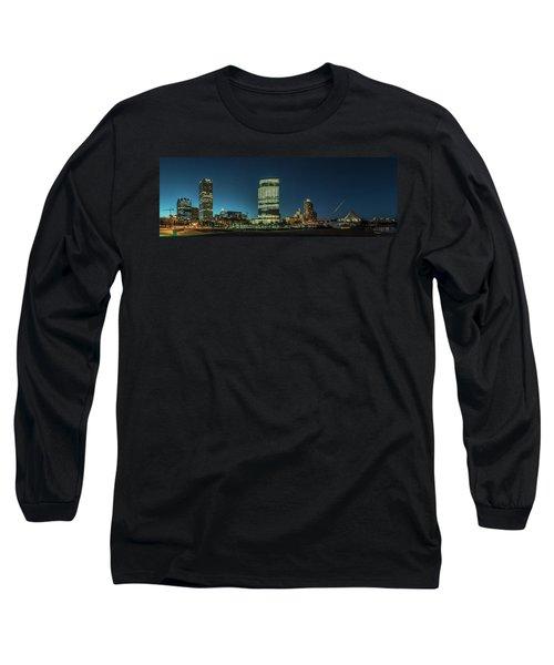 New Milwaukee Skyline Long Sleeve T-Shirt by Randy Scherkenbach