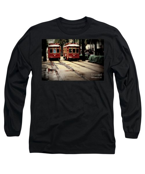 New Orleans Red Streetcars Long Sleeve T-Shirt