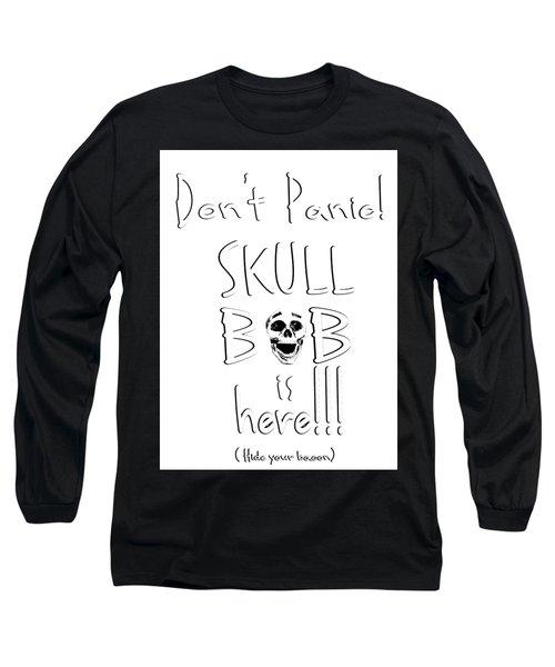 Skull Bob Long Sleeve T-Shirt by Phil Koch