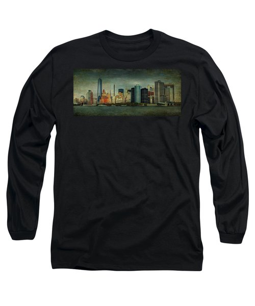 New York After Storm Long Sleeve T-Shirt by Dan Haraga