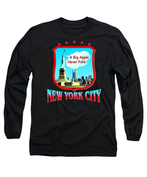 New York Big Apple Design Long Sleeve T-Shirt