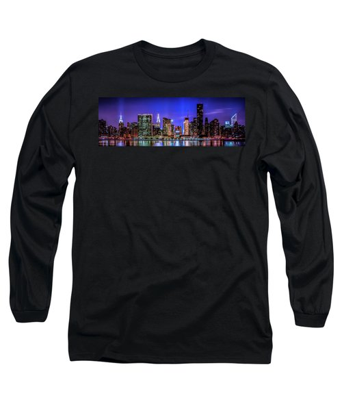Long Sleeve T-Shirt featuring the photograph New York City Shine by Theodore Jones