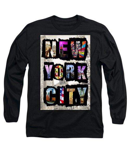 New York City Text Long Sleeve T-Shirt