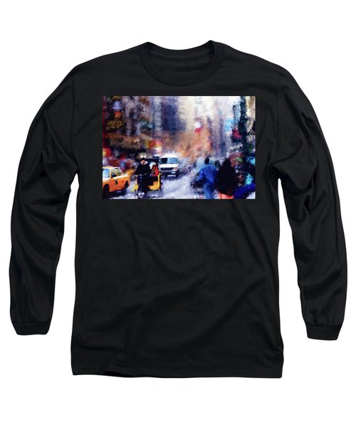 New York Hustle And Bustle Long Sleeve T-Shirt