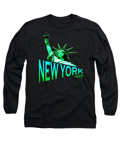 New York Liberty Design Long Sleeve T-Shirt